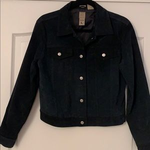 Jean style jacket in suede